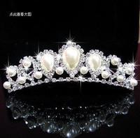 Medium bride hair accessory married the bride rhinestone pearl hg11