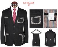 free shipping 2014 new arrival men's tuxedo suit brand dress suit for men slim fit striped business suit size s-4xl