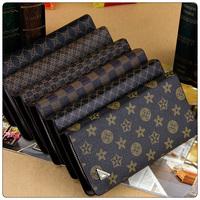 2013 male square grid purse pattern long design zipper wallet fashion day clutch card purse qianbao