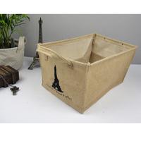 tower  Jute storage box and storage  basket drawer finishing box clothing sundries storage for 1 pcs