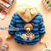 4 Pcs/lot New 2014 Children Outerwear Boys Girl Spring Winter Warm Coat Jacket Parkas Children Kids Cartoon Clothing CC0476