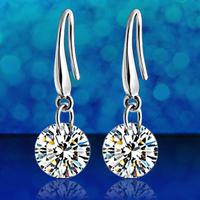 Austria crystal earrings 925 pure silver rhinestone earring female drop earring long design anti-allergic
