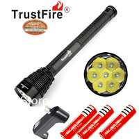 High Power Flashlight lamp torch 5 Mode 8000 Lumens 7 X CREE XM-L T6 LED+ 3*18650 recharger batteries+batteries charger