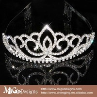 Wholesale Dropping 2013 fashion  Rhinestone Crystal Tiara Crown for Wedding Bride Pageant Hair Jewelry