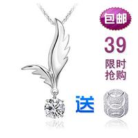 925 pure silver necklace pendant female short design silver jewelry gift