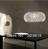the light fades slowly Modern minimalist living room Foscarini Style L Caboche 50 cm  pendant light acrylic ball lamp