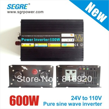 New 600W off Grid dc to ac 24v 110v pure sine wave inverter home inverter.