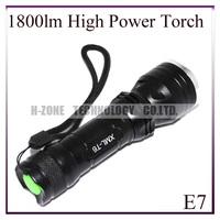 Free shipping  1800 Lumens High Power CREE XM-L T6 5 Mode Camping Aluminum Flash Light LED Flashlight  HZ-E7