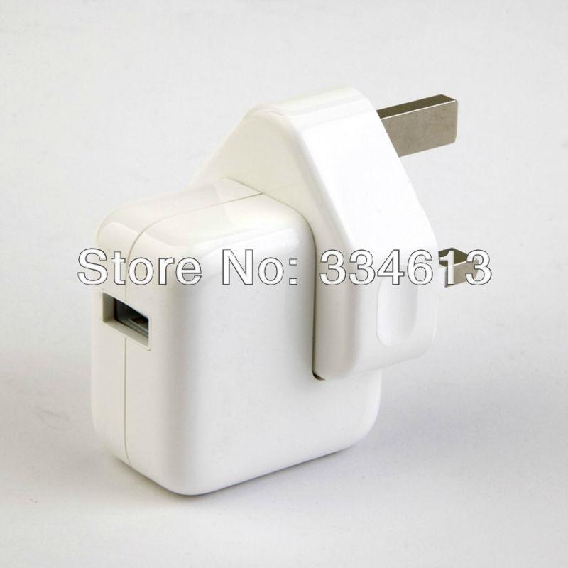 10pcs/lot UK Wall Charger Adapter 12W 2.4A 100-240V For Apple ipad 1/2/3 ipad Mini Free shipping