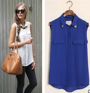 Promotions!2013 hot summer Fashion trendy women blouse shirts Four Colors Department shirt