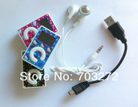 Hello Kitty Mini Clip mp3 player with screen,with TF card slot,support 2GB 4GB 8GB Memory Card +earphone+usb cable 1set