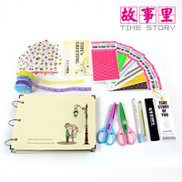 Handmade diy 10 wove photo album loading combination photo album gift 16 piece set  FREE SHIPPING