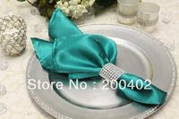 free shipping jade  plain satin napkin for wedding and banquet /napkins