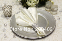 free shipping ivory  plain satin napkin for wedding and banquet /napkins