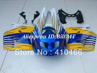 ABS Fairing kit for Kawasaki Ninja ZZR 1100 1993 2003  ZZR 1100D 93 03 ZZR1100D ZX11 yellow white blue fairings bodywork