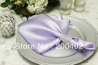 free shipping lavender  plain satin napkin for wedding and banquet /napkins