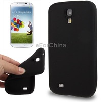 Free Shipping Pure Color Anti-scratch Silicone Case for Samsung Galaxy S4 / i9500 (Black)