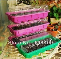 Free Shipping Nursery tray, Plastic Seed Starting Trays, Breeding plug tray,Planting tray 10 Cells Best for Jiffy7 38mm