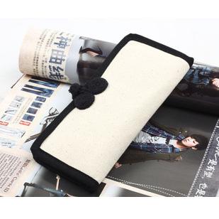 Diy wallet blank purse 100% cotton canvas card holder c101(China (Mainland))