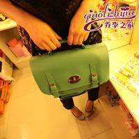 2013 fashion preppy style lock color block women's handbag one shoulder cross-body handbag b224
