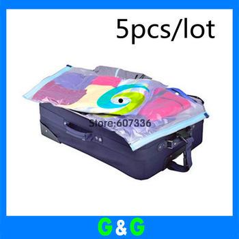 Free shipping Hotsale Travelling home vacuum storage bag,Space saving bag,Compression bag 40*50.40*60cm 5pcs/lot