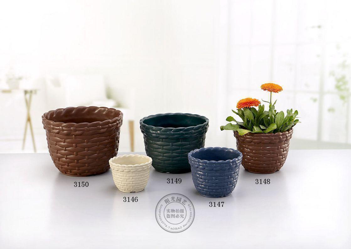 flower pot 3146 imitation rattan decorative pattern