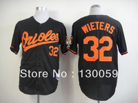 Free Shipping Wholesale 2013 New Men's Baseball Jerseys Baltimore Orioles #32 Matt WietersBlack Jersey,Mix Order