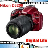 Nikon D3200 Black Digital SLR with AF-S DX 18-55mm VR Lens.