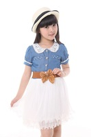 2013 Korean version of the latest girls dress children denim dress dress princess dress tutu Children