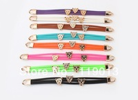 wholesale fashion Europe Summer candy color wild leopard head bracelet