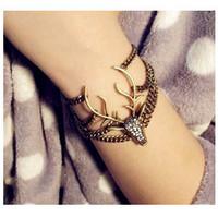 Sunshine jewelry store vintage full rhinestone christmas deer bracelets & bangles S185 ( $10 free shipping )