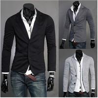 2014 Spring  Autumn Fashion Korean Slim Handsome Leisure Men's Casual Suits Solid Color Blazer