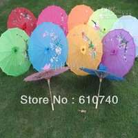 Wholesale - Free shipping hand made 22 inches Chinese bamboo parasols Children's umbrellas Wedding parasols Kids' sun umbrellas