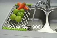 Ship within 24 hours high quality Stainless steel  Storage Holders  Racks  Dish rack kitchen sink water filter 405*220mm