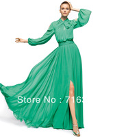 New Discount On Sale Classic Elegant Delicate  Long Sleeve Chiffon  Floor-length Prom EveningParty  Dress