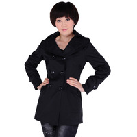 Quinquagenarian women's autumn outerwear new arrival women's trench mother clothing medium-long trench outerwear