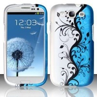 Front and Back Cell Phone Case for AT&T,T-Mobile,Sprint,Verizon Samsung I9300 Galaxy S3 - Blue Vines