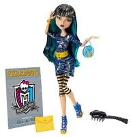 Free Shipping Monster High Original Doll Cleo De Nile Genuine Monster High Fashion Girls Picture Day N2851