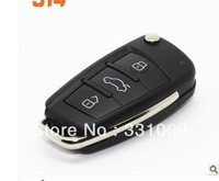 Anti-theft car remote control to change the audi A6L folding key shell equipped with remote control for shell