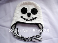 Crochet baby earflap Hat, ghost earflap hat, Halloween ghost earflap hat , MADE TO ORDER 10pcs/lot