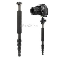 Free Shipping High Quality Triopo GL-40 Carbon Fiber Camera Monopod with Wrist Strap Carry Case