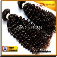 Fayuan hair brazilian hair kindy curly,100% human virgin hair 3pcs lot,Grade 5A