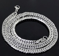 Wholesale\ Retail! Fashion Jewelry Hot Stainless Steel Silver Figaro Neklace Chains For Men & Boy, Lowest Price Best Quality