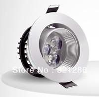 360degree adjustable Ceiling downlight 3W/4W LED ceiling lamp Recessed Spot light 85V-245V for home illumination silver