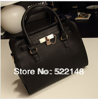 Fashion 2013 lock button platinum handbag  big size retro one shoulder cross body bags women handbag sales promotion