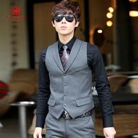 Men's clothing business casual vest suit vest male spring and autumn male slim wedding dress small vest