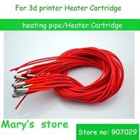 free shipping (10pcs/lot) 3D printer cartridge heater  6 * 20 24V/40W Single-head heating tube 1m length