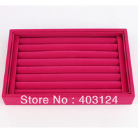 7 Rows Velvet Rings Display, Earrings Display,Velvet Ring Jewelry Tray, Jewelry Display-SL131, Wholsale/Free Shipping