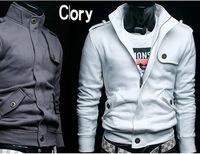 2013 new arrived free shopping New arrival Casual trend styling Korea Men's Slim Hoodie Jacket Coat Sweatshirt