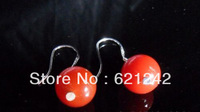 Top Grade Natural Red Agate Eardrop Wholesale 12pairs/lot Ear Jewelry Silver Earring  Accessory Drop Earring Free ShippingLGZ200